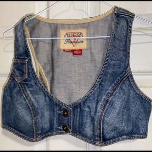 Guess Jeans Stretchy Cropped Vest
